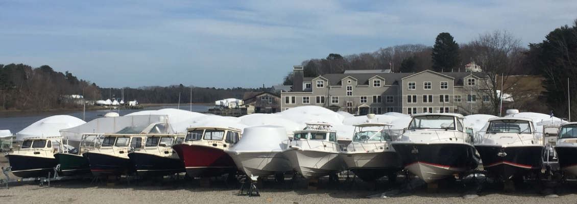 Boats At The Outdoor Storage Area